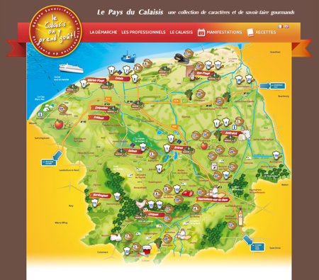Carte du Calaisis, on y prend goût